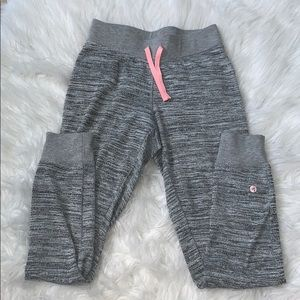 Heathered  gray joggers